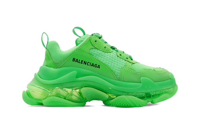 Balenciaga  Triple S Trainers Neon Green the best workout inspiration