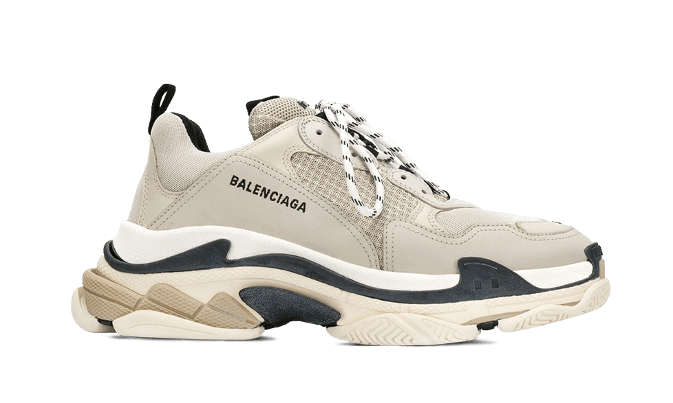 Balenciaga  Triple S Trainers BEIGE / BLACK the best workout inspiration