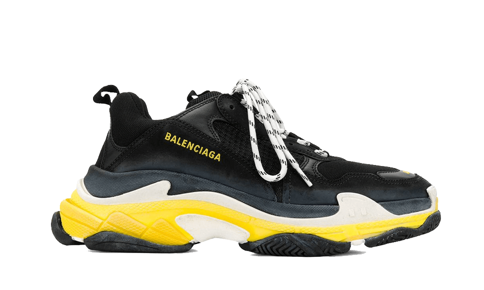 Balenciaga  Triple S Trainers NOIR / JAUNE the best workout inspiration