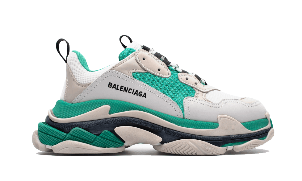 Balenciaga  Triple S Trainers White / Green the best workout inspiration