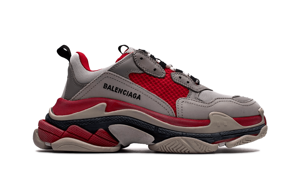 Balenciaga  Triple S Trainers Gray / Red the best workout inspiration