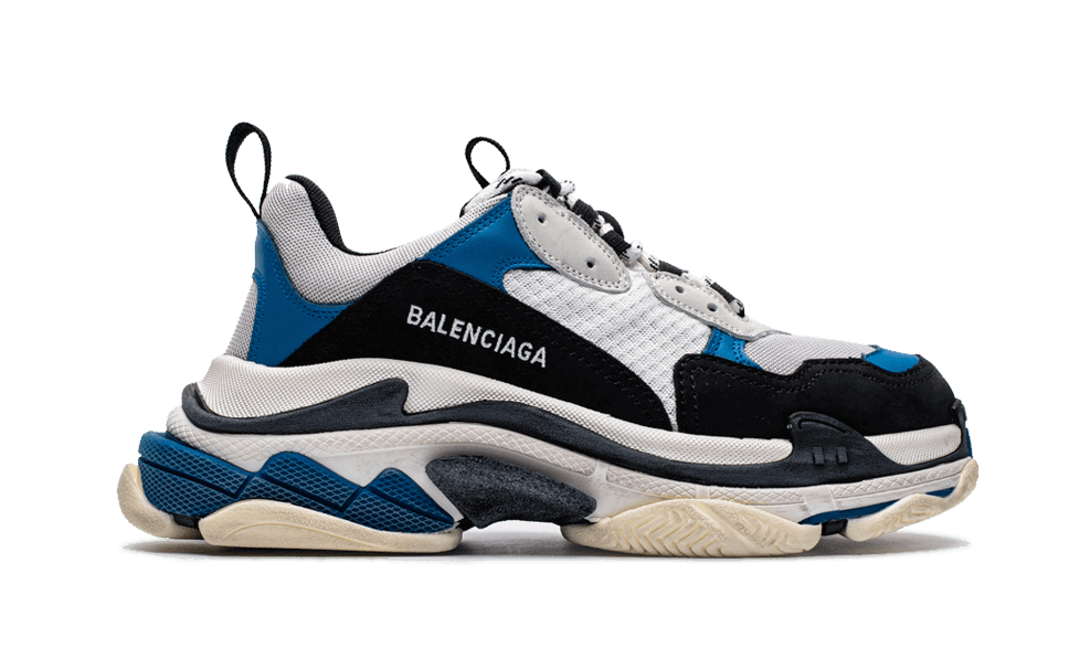 Balenciaga  Triple S Trainers Blue / Black / White the best workout inspiration
