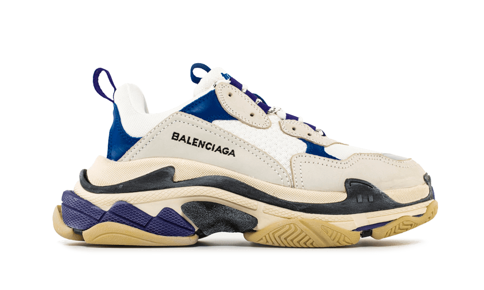Balenciaga  Triple S Trainers White Navy Purple the best workout inspiration
