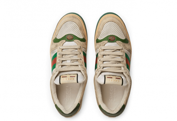Gucci Screener Leather Sneaker Vintage Distressed Effect